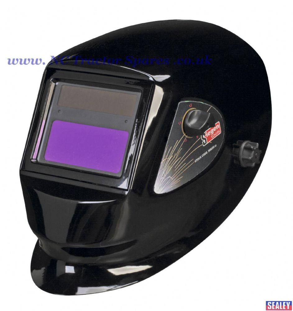 Welding Helmet Solar Powered Variable Shade 9-13.
